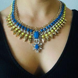 BCBGMAXAZRIA bright yellow and blue necklace